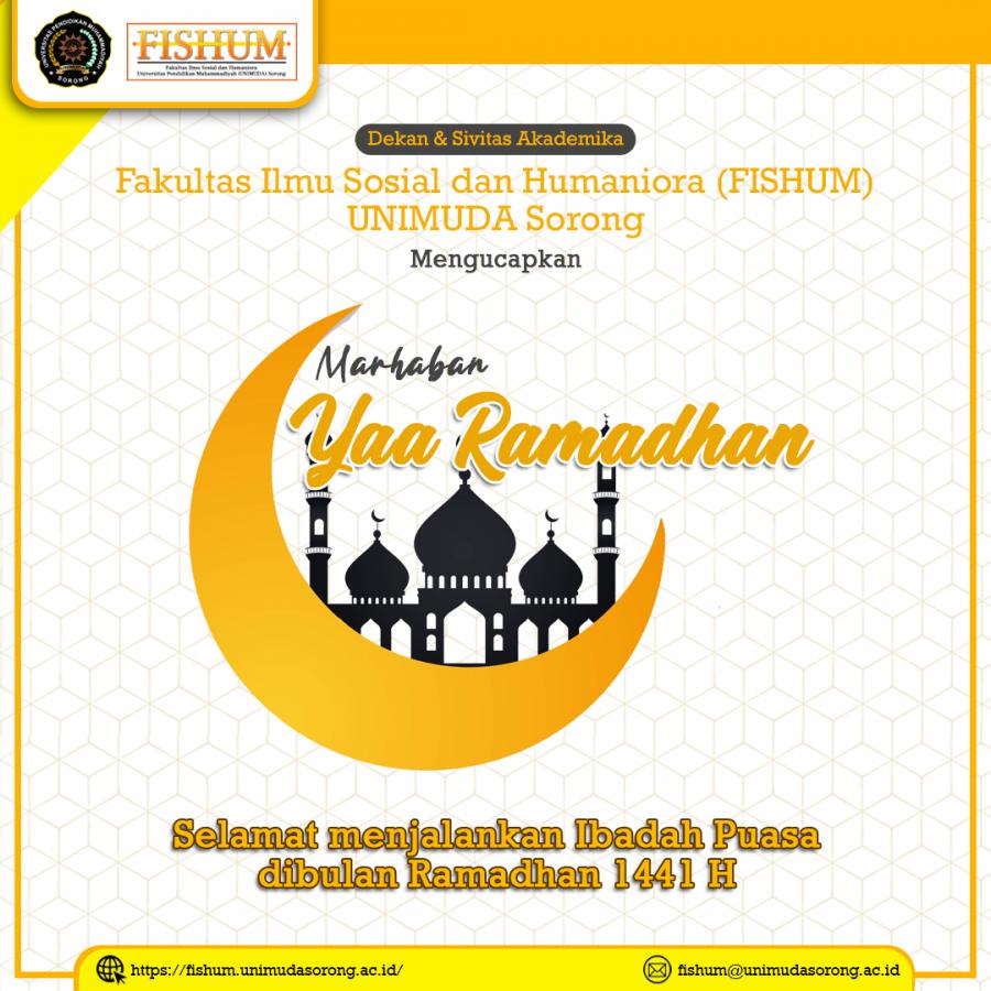 Selamat Menjalankan Ibadah Puasa dibulan Ramadhan 1441 H
